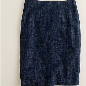 J.crew denim jean pencil skirt size 2 style 19326